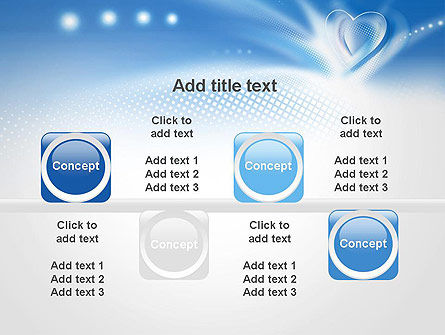 Blue Heart Background PowerPoint Template Slide 18