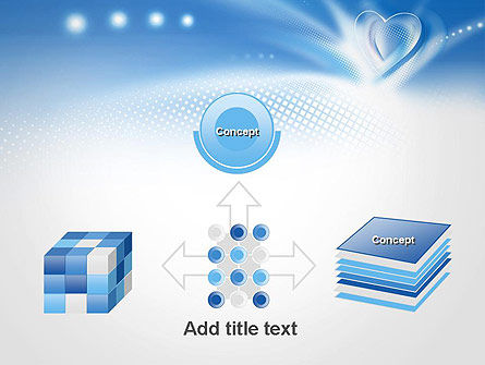 Blue Heart Background PowerPoint Template Slide 19