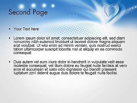 Blue Heart Background PowerPoint Template, Slide 2, 14037, Holiday/Special Occasion — PoweredTemplate.com