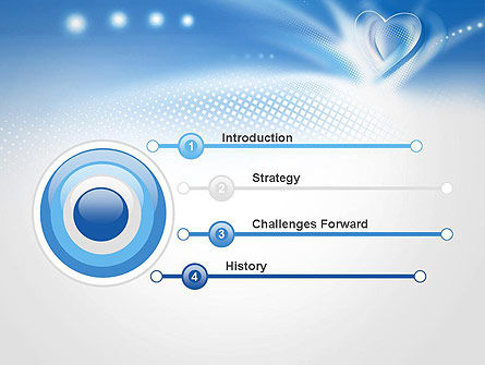 Blue Heart Background PowerPoint Template, Slide 3, 14037, Holiday/Special Occasion — PoweredTemplate.com