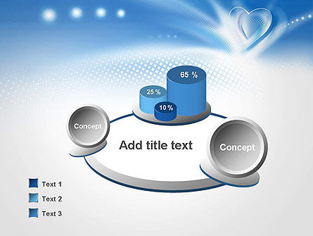Blue Heart Background PowerPoint Template Slide 6