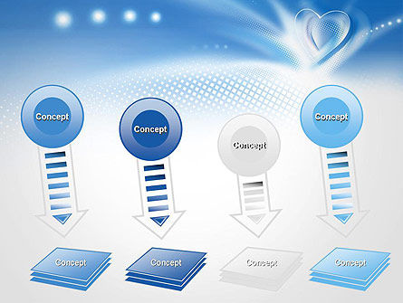 Blue Heart Background PowerPoint Template Slide 8