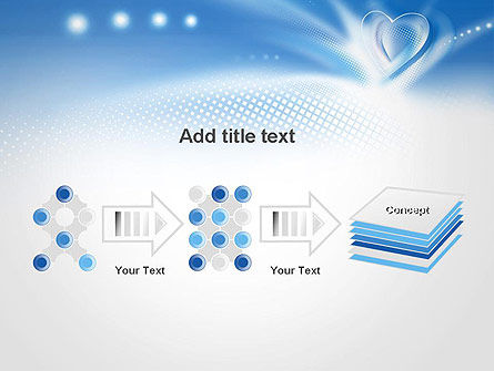 Blue Heart Background PowerPoint Template Slide 9