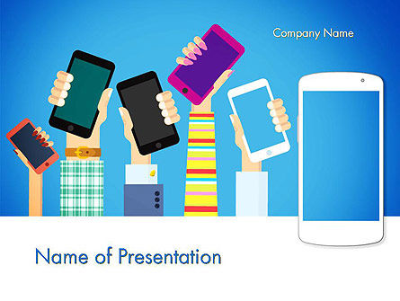 Mobile Gadgets PowerPoint Template, 14038, Technology and Science — PoweredTemplate.com