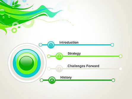 Spring Abstract PowerPoint Template Slide 3