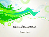 Abstract/Textures: Spring Abstract PowerPoint Template #14039