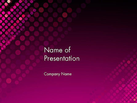 Diagonal Dots Abstract PowerPoint Template