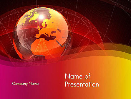 Global: Red globe thema PowerPoint Vorlage #14042