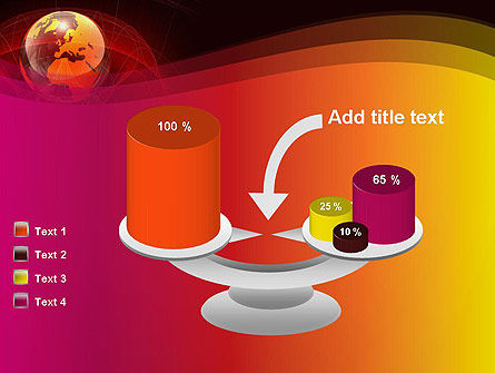 Red Globe Theme PowerPoint Template Slide 10