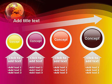 Red Globe Theme PowerPoint Template Slide 13