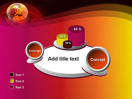 Red Globe Theme PowerPoint Template Slide 16