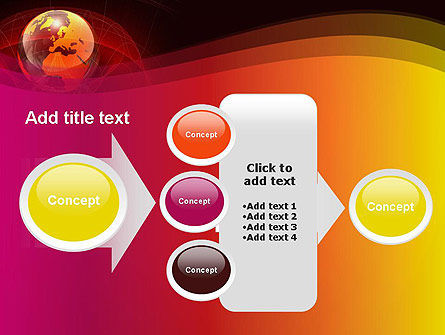 Red Globe Theme PowerPoint Template Slide 17