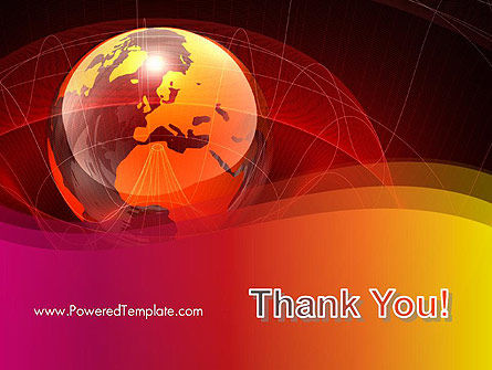 Red Globe Theme PowerPoint Template Slide 20