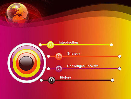 Red Globe Theme PowerPoint Template, Slide 3, 14042, Global — PoweredTemplate.com