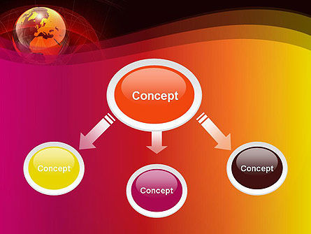 Red Globe Theme PowerPoint Template, Slide 4, 14042, Global — PoweredTemplate.com