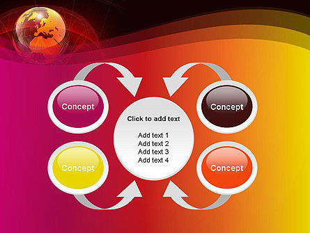 Red Globe Theme PowerPoint Template Slide 6