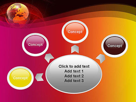 Red Globe Theme PowerPoint Template Slide 7