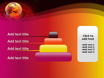 Red Globe Theme PowerPoint Template Slide 8