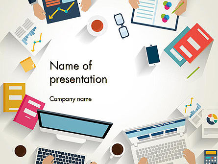 Kickoff Meeting Top View PowerPoint Template