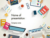 Business: Kickoff Meeting Bovenaanzicht PowerPoint Template #14043