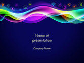 Abstract/Textures: Colorful Wave with App Icons PowerPoint Template #14044