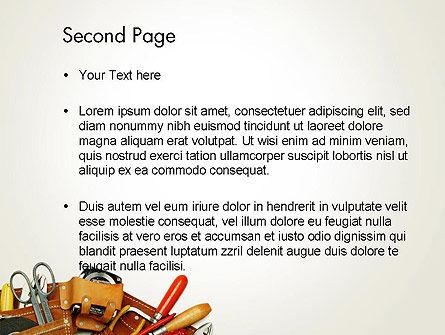 Home Maintenance PowerPoint Template, Slide 2, 14045, Utilities/Industrial — PoweredTemplate.com