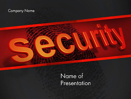 Biometrics Security System PowerPoint Template, 14046, Technology and Science — PoweredTemplate.com