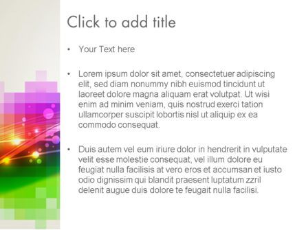 Music Visualizer Abstract PowerPoint Template, Slide 3, 14047, Abstract/Textures — PoweredTemplate.com