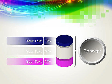 Music Visualizer Abstract PowerPoint Template Slide 11