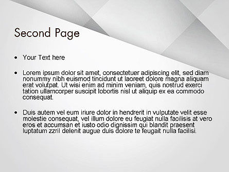 Gray Box-Check Abstract PowerPoint Template Slide 2