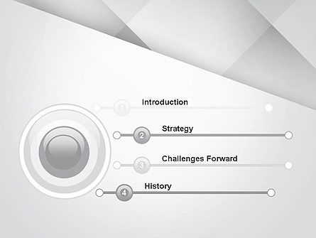 Gray Box-Check Abstract PowerPoint Template Slide 3