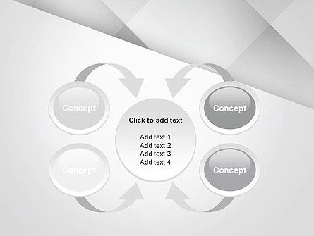 Gray Box-Check Abstract PowerPoint Template Slide 6