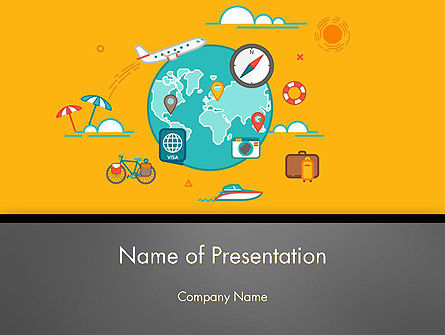 Traveling Around the World PowerPoint Template, 14050, Careers/Industry — PoweredTemplate.com