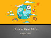 Traveling Around the World PowerPoint Template#1