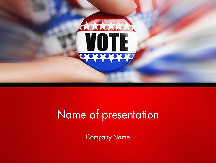 America: Modèle PowerPoint de badge de vote #14051