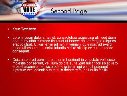 Vote Badge PowerPoint Template, Slide 2, 14051, America — PoweredTemplate.com