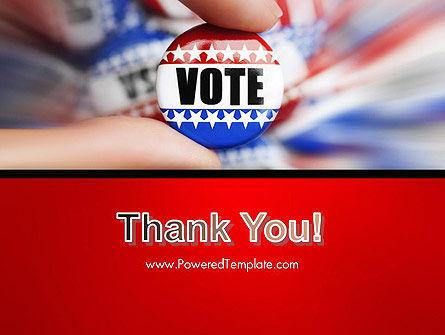 Vote Badge PowerPoint Template Slide 20