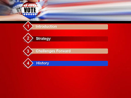 Vote Badge PowerPoint Template, Slide 3, 14051, America — PoweredTemplate.com