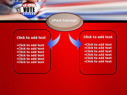 Vote Badge PowerPoint Template, Slide 4, 14051, America — PoweredTemplate.com