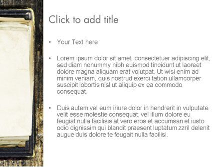 Old Notebook PowerPoint Template, Slide 3, 14055, Abstract/Textures — PoweredTemplate.com