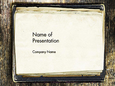 Old Notebook PowerPoint Template, 14055, Abstract/Textures — PoweredTemplate.com