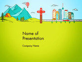 Careers/Industry: Traveling the Countryside PowerPoint Template #14057