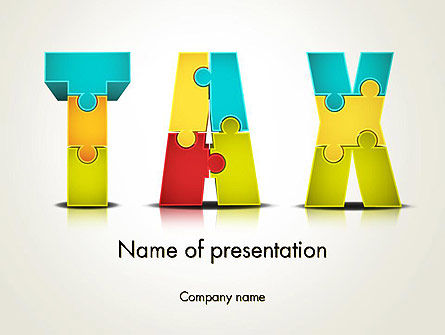 Tax Puzzle Powerpoint Template Backgrounds