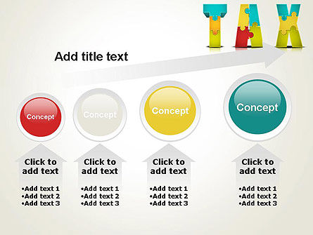 Tax Puzzle PowerPoint Template Slide 13