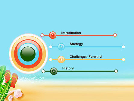Sunny Beach PowerPoint Template, Slide 3, 14059, Holiday/Special Occasion — PoweredTemplate.com
