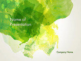 Abstract/Textures: Green Vegetable Leaf Abstract PowerPoint Template #14060