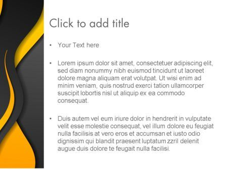 Orange Flowing Waves PowerPoint Template, Slide 3, 14061, Abstract/Textures — PoweredTemplate.com