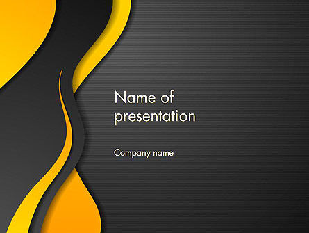 Abstract/Textures: Orange Flowing Waves PowerPoint Template #14061