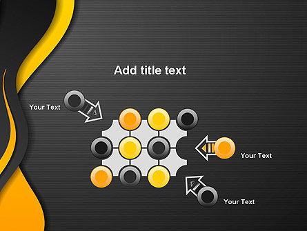 Orange Flowing Waves PowerPoint Template Slide 10