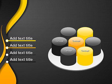 Orange Flowing Waves PowerPoint Template Slide 12